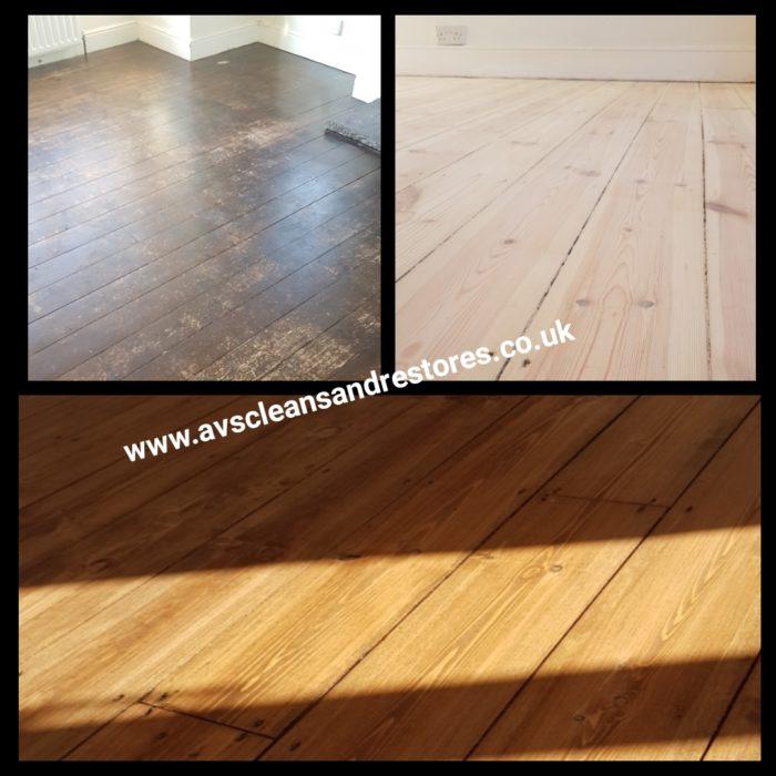 Pine floor sanding Bamburgh